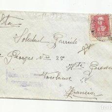 Sellos: CIRCULADA 1938 DE NOVALES SANTANDER A TORRELAVEGA CON CENSURA MILITAR. Lote 295814113