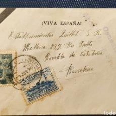 Sellos: GUERRA CIVIL CARTA CON VIÑETA Y CENSURA MILITAR ARCOS DE LA FRONTERA CADIZ 1939. Lote 296721728