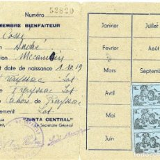 Sellos: GUERRA CIVIL. CARNET DE SOLIDARIDAD ESPAÑOLA COMPLETO, CON TRES VIÑETAS EDIFIL 2743. MUY RARO. Lote 296722638