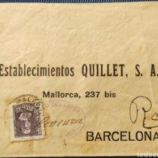Sellos: GUERRA CIVIL CARTA CON CENSURA EJÉRCITO CENTRAL COMANDANCIA MILITAR MÁLAGA 1939. Lote 296723553