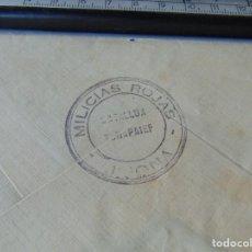 Sellos: CARTA CIRCULADA REPUBLICA GUERRA CIVIL AGRES ALICANTE .MILICIAS ROJAS BATALLON TCHAPAIEF JIJONA. Lote 296804388