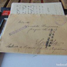 Sellos: CARTA CIRCULADA CENSURA MILITAR BATALLON ORDEN PUBLICO SEVILLA ESTAFETA TOLEDO. Lote 296805648