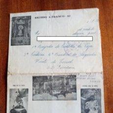 Sellos: CARTA SOBRE GUERRA CIVIL 1938 - FRENTE DE TERUEL. Lote 297062898