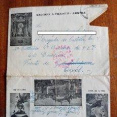 Sellos: CARTA SOBRE GUERRA CIVIL 1938 - FRENTE DE TERUEL. Lote 297067578