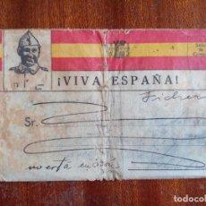 Sellos: CARTA SOBRE GUERRA CIVIL 1938 FRENTE DE ASTURIAS. Lote 297069558