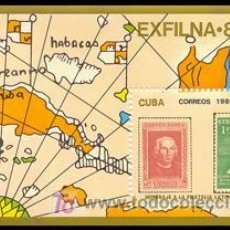 Sellos: CUBA 1985 HB91 EXFILNA 85 HOMENAJE FILATELIA LATINOAMERICANA. Lote 7124850