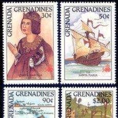 Sellos: GRENADA GREN.1987 739/42 4V.FORTALEZA NAVIDAD LETRAS COLON. Lote 4395129