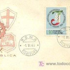 Sellos: ITALIA, 20 ANIVERSARIO DE LA REPÚBLICA ITALIANA, SOBRE PRIMER DÍA DEL 1-6-1966. Lote 6368954
