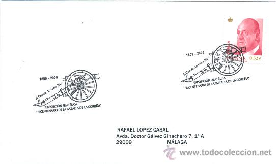 ESPAÑA 2009. MATASELLO ESPECIAL. BICENTENARIO DE LA BATALLA DE LA CORUÑA. (Sellos - Temáticas - Historia)