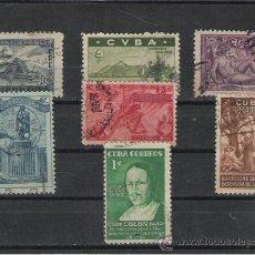 Sellos: TEMA COLON GRAN SERIE DE 1944 SERIE DEL 450 ANIVERSARIO MATASELLADA . Lote 14662467