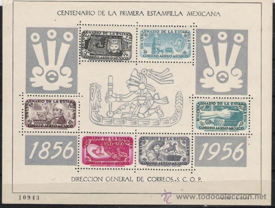 TEMA CENTENARIO DEL SELLO GRAN HOJA BLOQUE Nº 2 DE MEXICO NUEVA (Sellos - Temáticas - Historia)