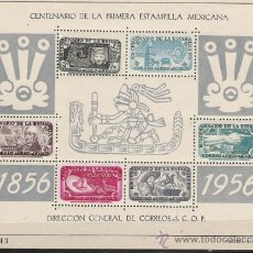 Sellos: TEMA CENTENARIO DEL SELLO GRAN HOJA BLOQUE Nº 2 DE MEXICO NUEVA . Lote 27548577