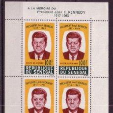 Sellos: SENEGAL HB 2*** - AÑO 1964 - ANIVERSARIO DE LA MUERTE DEL PRESIDENTE JOHN F. KENNEDY. Lote 21969798