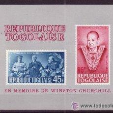 Sellos: TOGO HB 17*** - AÑO 1965 - MUERTE DE SIR WINSTON CHURCHILL. Lote 16857318