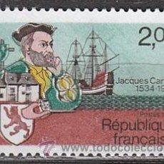Sellos: FRANCIA IVERT Nº 2307, JACQUES CARTIER, 450 ANIVERSARIO DEL PRIMER VIAJE A CANADA, NUEVO. Lote 17096791