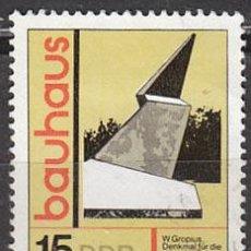 Sellos: ALEMANIA ORIENTAL Nº 2171, ESTILO DE CONSTRUCCIÓN BAHAUS, USADO. Lote 17181918