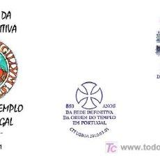 Sellos: MATASELLOS DE LOS TEMPLARIOS - 850 AÑOS SEDE DEFINITIVA EN PORTUGAL. Lote 18004766