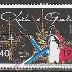 Sellos: FRANCIA IVERT Nº 2114, 40º ANIVEº DE LA LLAMADA DE CHARLES DE GAULLE EN LA 2ª GUERRA MUNDIAL, NUEVO. Lote 18073468