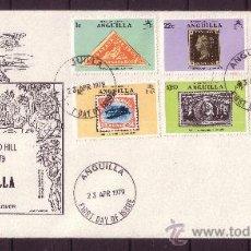 Sellos: ANGUILLA SPD 316/21 - AÑO 1979 - CENTENARIO DE LA MUERTE DE RIR ROWLAND HILL. Lote 19094319