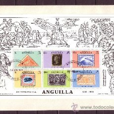 Sellos: ANGUILLA SPD HB 25 - AÑO 1979 - CENTENARIO DE LA MUERTE DE RIR ROWLAND HILL. Lote 19094407
