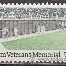 Sellos: ESADOS UNIDOS (21-09), MONUMENTO A LOS VETERANOS DE VIET NAM, NUEVO. Lote 19694726