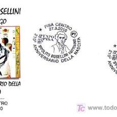 Timbres: EGIPTO - IPPOLITO ROSELLINI, EGIPTOLOGO. PISA, ITALIA. Lote 25053001