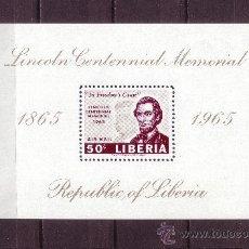Sellos: LIBERIA HB 33*** - AÑO 1959 - CENTENARIO DE LA MUERTE DE ABRAHAM LINCOLN. Lote 22461597
