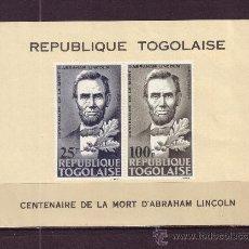Sellos: TOGO HB 16*** - AÑO 1965 - CENTENARIO DE LA MUERTE DE ABRAHAM LINCOLN. Lote 23076118