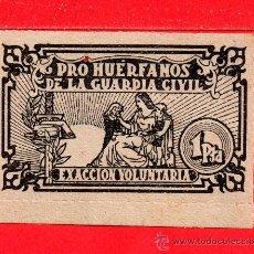 Sellos: SELLO DE POR HUERFANOS DE LA GUARDIA CIVIL DE UNA PESETA EXACCION VOLUNTARIA EL AÑO 1965. Lote 27359386