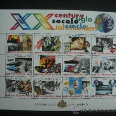 Sellos: SAN MARINO 2000 IVERT 1664/75 *** HISTORIA DEL SIGLO XX. Lote 32410997