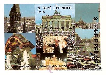SELLOS S TOME E PRINCIPE AÑO 1990 200 ANIVERSARI PUERTA BRANDENBURGO (Sellos - Temáticas - Historia)