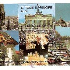 Sellos: SELLOS S TOME E PRINCIPE AÑO 1990 200 ANIVERSARI PUERTA BRANDENBURGO . Lote 34392509