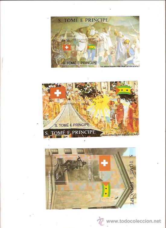 SELLOS S TOME E PRINCIPE AÑO 1991 700 ANIVERSARIO CREACION DE SUIZA (Sellos - Temáticas - Historia)