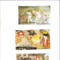 Sellos: SELLOS S TOME E PRINCIPE AÑO 1991 700 ANIVERSARIO CREACION DE SUIZA . Lote 34392642