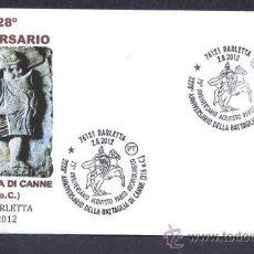 Briefmarken - ITALIA 2012. MATASELLO ESPECIAL. BATALLA DE CANAS. ROMANOS CARTAGINESES. BARLETTA. - 34448570