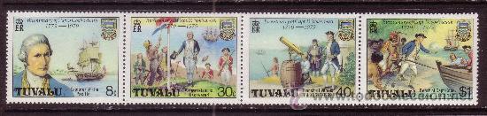 TUVALU 111/14*** - AÑO 1979 - BARCOS - BICENTENARIO DE LA MUERTE DEL CAPITAN COOK (Sellos - Temáticas - Historia)