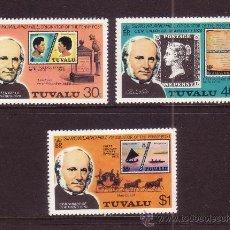 Sellos: TUVALU 119/21*** - AÑO 1979 - CENTENARIO DE LA MUERTE DE SIR ROWLAND HILL. Lote 36495576