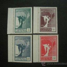 Sellos: LITUANIA 1990 IVERT 394/7 *** RESTAURACIÓN DE LA REPÚBLICA EN LITUANIA. Lote 37203575