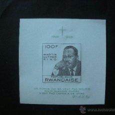 Sellos: RWANDA 1968 HB IVERT 12 *** MUERTE DEL PASTOR MARTIN LUTHER KING - PERSONAJES . Lote 41390935