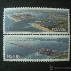 Sellos: AFRICA DEL SUR - RSA 1978 IVERT 445/6 *** PUERTOS DE SUDAFRICA - SALDANHA Y BAIA RICHARDS. Lote 41575441
