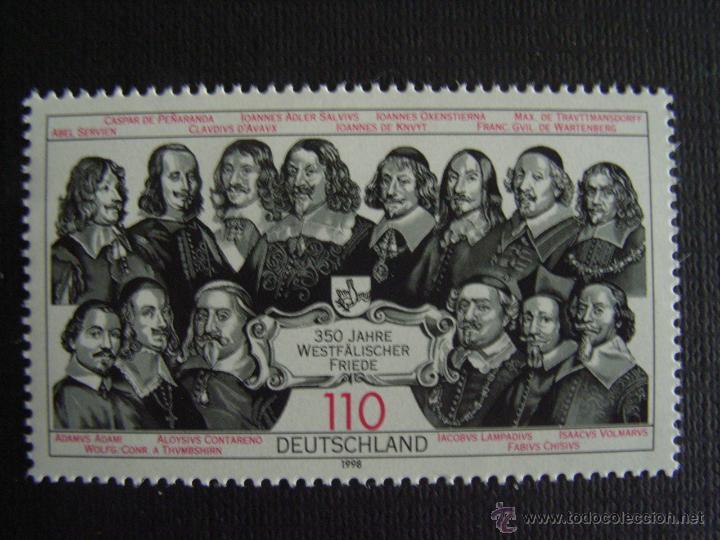 ALEMANIA FEDERAL Nº YVERT 1811*** AÑO 1998. 350 ANIVERSARIO DE LOS TRATADOS DE WESTFALIA (Sellos - Temáticas - Historia)
