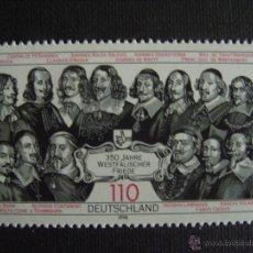Sellos: ALEMANIA FEDERAL Nº YVERT 1811*** AÑO 1998. 350 ANIVERSARIO DE LOS TRATADOS DE WESTFALIA. Lote 114945482