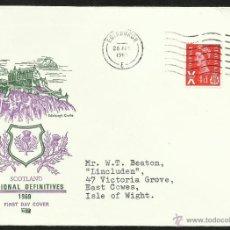 Timbres: GRAN BRETAÑA - ESCOCIA 1969 SOBRE PRIMER DIA CIRCULACION CASTILLO DE EDIMBURGO- ARQUITECTURA. Lote 47300445