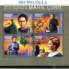 Sellos: L592, REP. CENTROAFRICANA, 2014, MARIE CURIE. Lote 206984695