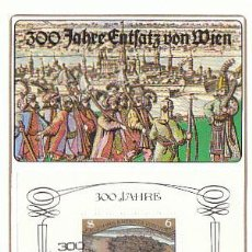 Sellos: AUSTRIA IVERT 1578, 3º CENTENARIO DEL ASEDIO DE VIENA POR LOS OTOMANOS, TARJETA MÁXIMA DE 9-9-1983. Lote 64671107