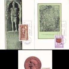 Sellos: EDIFIL 1871/3, XIX CENTENARIO DE LA FUNDACION DE LEON, LEGIO VII GEMINA, MAXIMA PRIMER DIA 15-6-1968. Lote 55122386