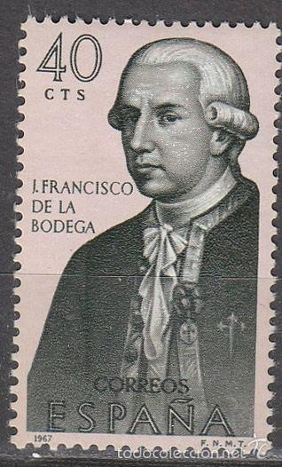 EDIFIL Nº 1819, FORJADORES DE AMERICA AÑO 1967: JUAN FRANCISCO DE LA BODEGA, NUEVO *** (Sellos - Temáticas - Historia)