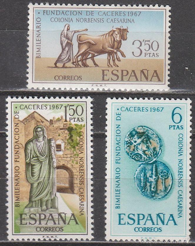 EDIFIL Nº 1827/9, BIMILENARIO DE LA FUNDACIÓN DE CÁCERES, NUEVO *** (SERIE COMPLETA) (Sellos - Temáticas - Historia)