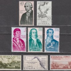 Sellos: EDIFIL Nº 1819/26, FORJADORES DE AMERICA AÑO 1967, NUEVO *** (SERIE COMPLETA). Lote 195188447