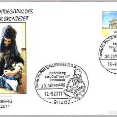 Sellos: PREHISTORIA - 20 AÑOS DEL DESCUBRIMIENTO DE OTZI. NURNBERG 2011. Lote 58210145